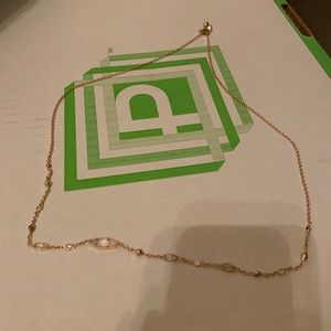 Kendra Scott adjustable necklace rose gold